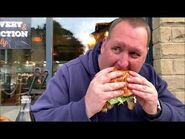 Eating The Empire State Burger at a Takeaway in Bradford