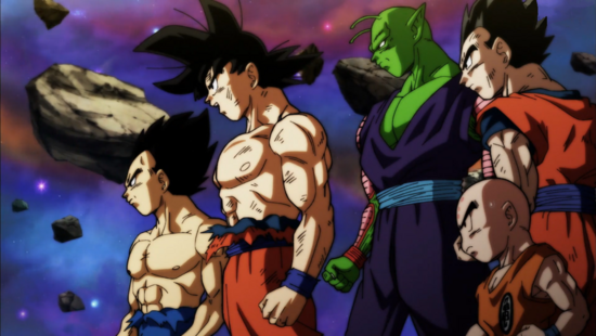 Vegeta, Son Goku, Piccolo, Son Gohan e Crilin.png