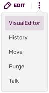 Edit button when source is default