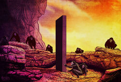 "An illustration of the monolith, from the opening scene of ""2001: A Space Odyssey"""