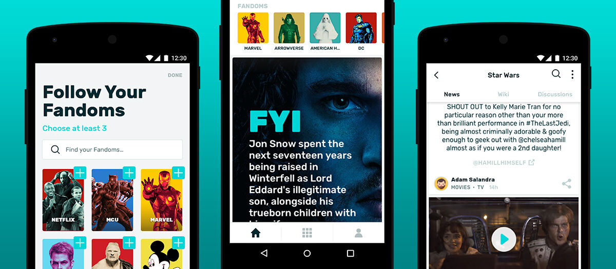 Die umfassende FANDOM-App gibt es jetzt auch für Android
