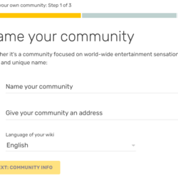 Help:Start a new community