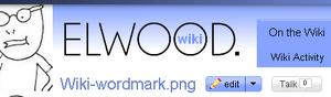 Elwood wiki wordmark