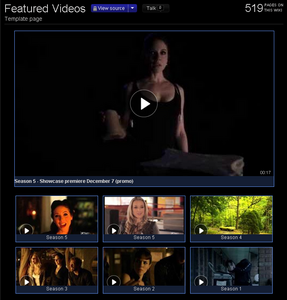 Example - Lost Girl Wiki Featured Video page for Virago a-go-go