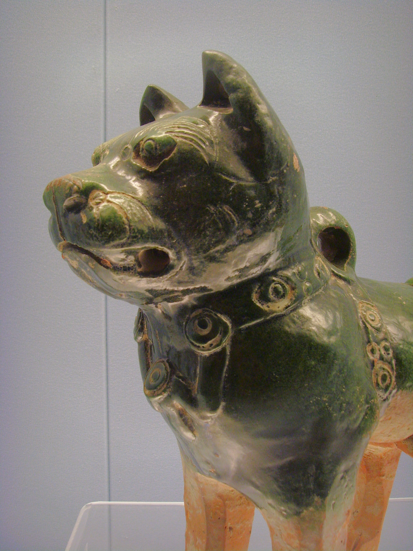 Green-glazed pottery