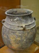 Gran recipient d'emmagatzemagte, Puntal de Cambra, Villar del Arzobispo, Museu de Prehistòria de València