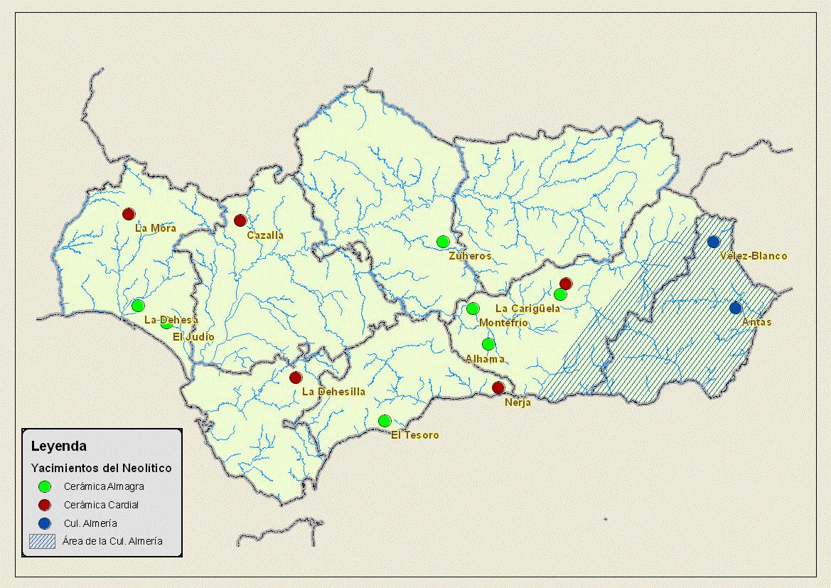 Fases del neolítico en Andalucía