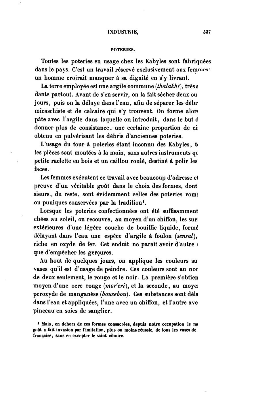 La Kabylie et les coutumes kabyles