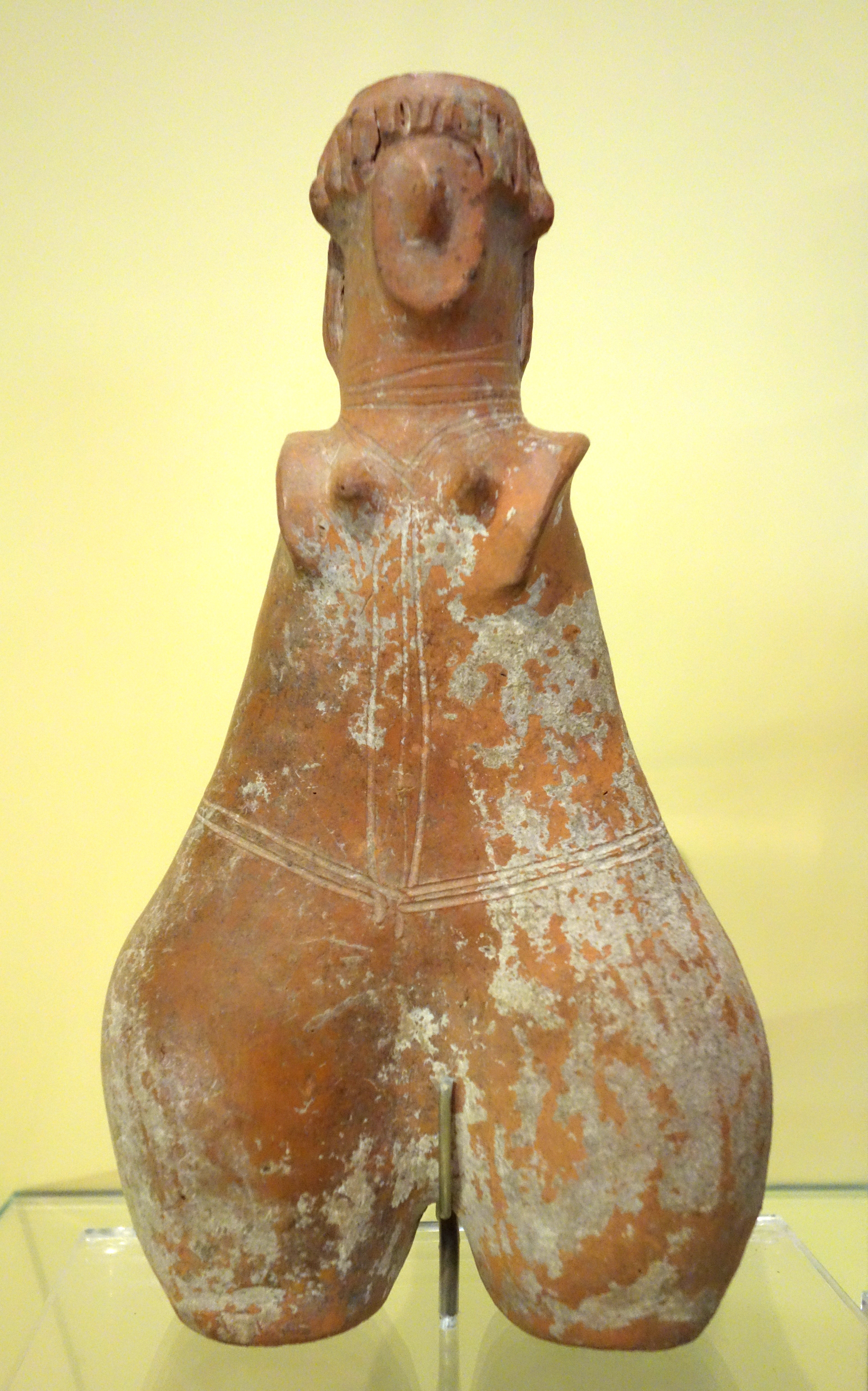 Amlash-style mother goddess, 1 of 5, perhaps Amlash, Northern Iran, Iron Age, c. 1200-900 BC, earthenware - Royal Ontario Museum - DSC04531.JPG