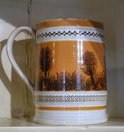 Mug with mocha decoration, England, c. 1800, earthenware - Concord Museum - Concord, MA - DSC05754