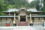 Karamon (Chinese gate), Haiden (prayer hall), and Honden (Main hall) at Toshogu
