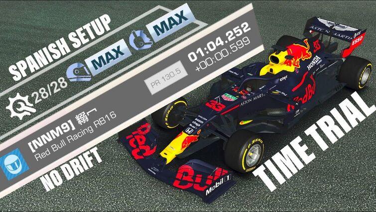 TTC (Spanish GP Circuit) RedBull Racing RB16 (Full-Spanish Setup Max Driver&Principal Tilt A)