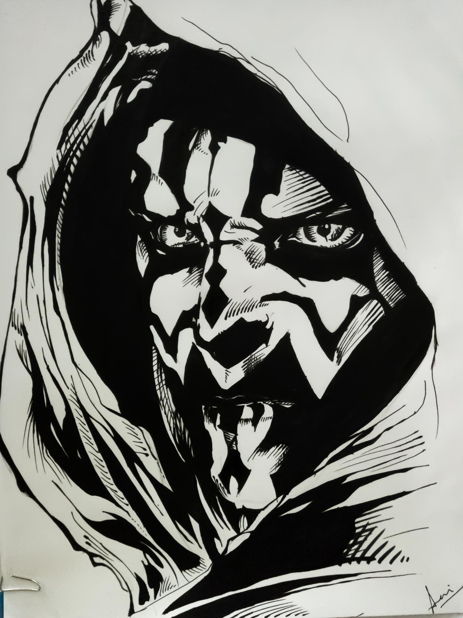 My first sketch of Maul
