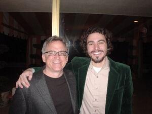Hunter with Steve Porcaro.
