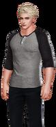 Wesley Black Grey-Black Pulli and Black Pants