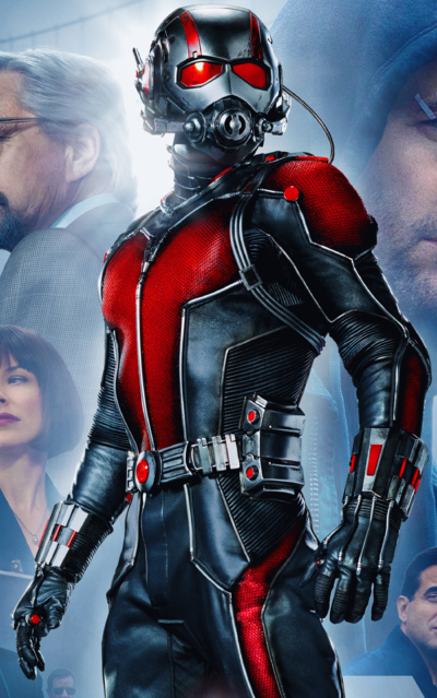 Ant-Man (Marvel) can change his size with gadgets.
