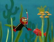 Elmo as a Scuba Diver