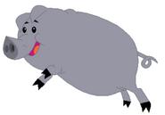 MLP FIM Grey Pig
