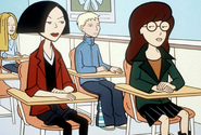 Jane and Daria in school chairs