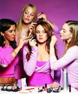 Plastics helping Cady with makeup