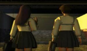 Athena Asamiya and Rika Kashiwazaki Back View for Athena Awakening from the Ordinary Life