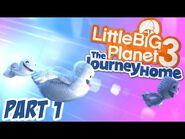 LittleBigPlanet 3 - The Journey Home 100% Walkthrough Part 1 - Bone-a-Fide Ride - LBP3 PS4