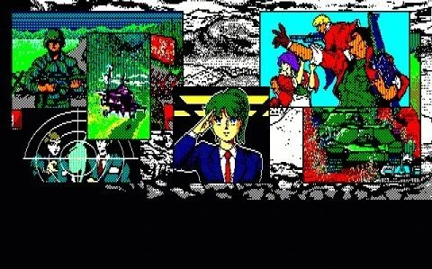 Shiryou Sensen War of the Dead for PC88 Opening