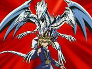 Yami Yugi and Blue-Eyes Ultimate Dragon