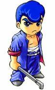 Riki Samejima Official art from River Ciry Ransom EX