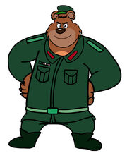 Dog a tat the rat a tat Dawa Thapaliya kairy commander soldier bear man by billiman.jpg