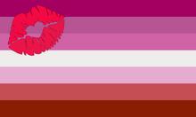 Lipstick lesbian Pride Flag.png