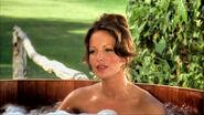Kelly in a hot tub