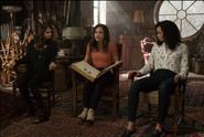 Charmed 1x01 Macy, Mel, Maggie Attic Promotional Photo