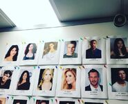 The headshot wall with characters' names