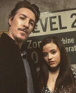 2x18 Eric and Sarah BTS