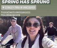 Ellen Tamaki, Constantine Rousouli and Nick Hargrove BTS