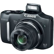Canon PowerShot SX160 IS Front with Flash
