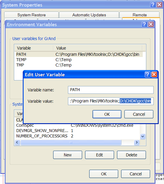 Compiling CHDK under Windows