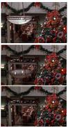 Christmas dinner chandelier failure