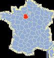 Positionnement géographique du département de l'Eure-et-Loir en France