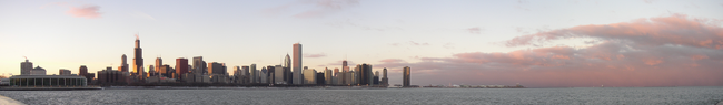 Chicago Skyline at Sunset.png