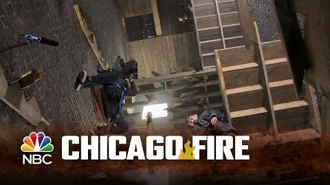 Chicago Fire - Filming the Collapsed Staircase Rescue (Behind-The-Scene)