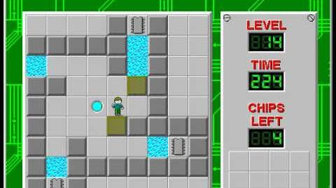 Chip's_Challenge_1_level_14_solution_-_204_seconds