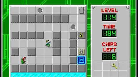 Chip's_Challenge_1_level_114_solution_-_172_seconds