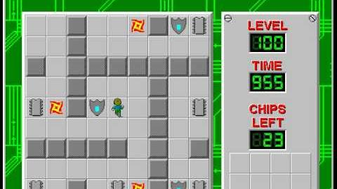 Chip's_Challenge_1_level_100_solution_-_910_seconds