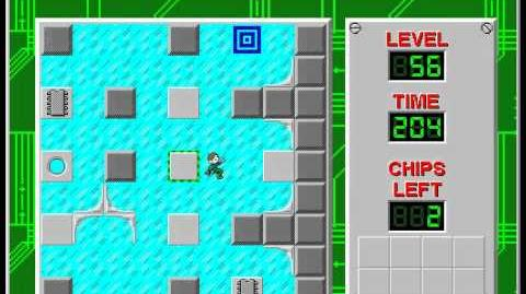 Chip's_Challenge_1_level_56_solution_-_162_seconds