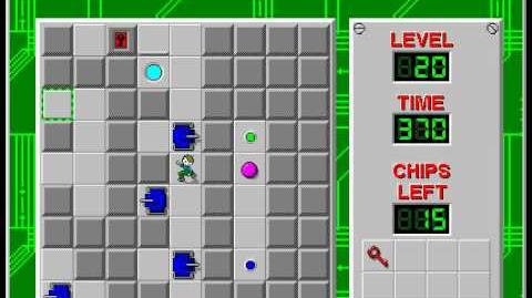 Chip's_Challenge_1_level_20_solution_-_340_seconds