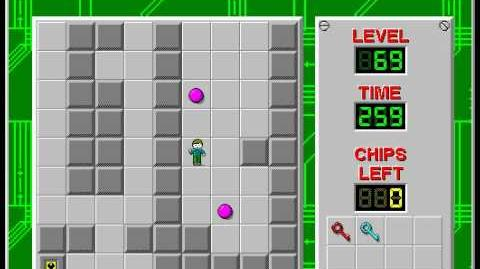Chip's_Challenge_1_level_69_solution_-_229_seconds