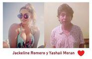 Jackeline Romero y su novio Yashaii Moran