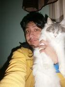 Yashaii Moran and her Cat (2)